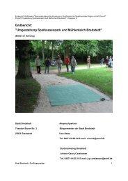 101104_Endbericht Umgestaltung ... - Stadt Bredstedt