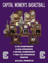 2010-2011 prospectus 10 oac championships ... - Capital University