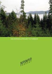 BWP Dossier Forbach.indd - BergwaldProjekt