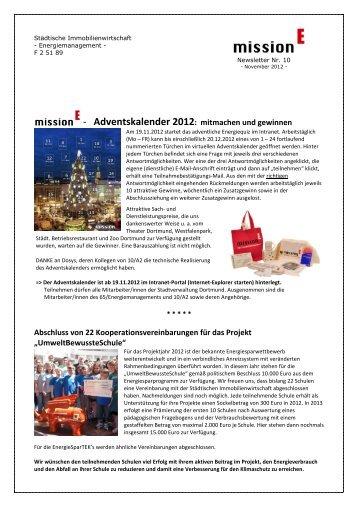 Newsletter Nr. 10 von November 2012 [pdf, 1 - Dortmund