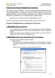 """Nutzung der Normendatenbank """"Perinorm"""" - TU Dortmund"""