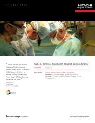 Kath. St.-Johannes-Gesellschaft (Hospital) - Hitachi Data Systems