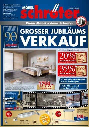 GroSSer JubiläumS - Möbel Schröter
