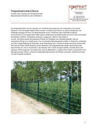 Doppelstabmatten/Zäune - Construct-Metall