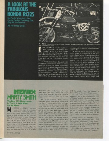 Marty Smith Interview Cycle World Nov 1974 - Jones MX Collection
