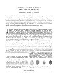 automated detection of pistachio defects by machine vision