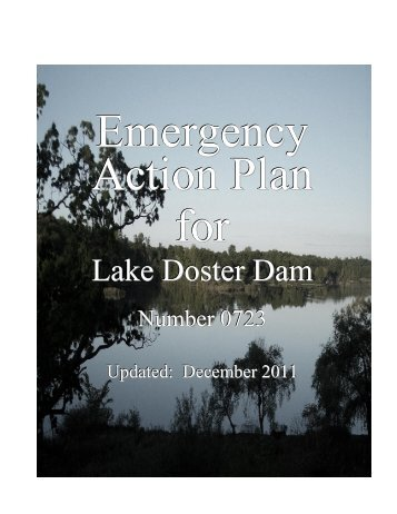Lake Doster's Emergency Action Plan - Lake Doster Lake Association