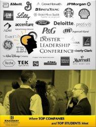 corporate sponsorship brochure - Doster Leadership Conference