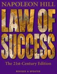 Hill-Napoleon Law of Success 21st Century Edition