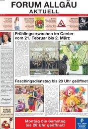 AKTUELL - Forum Allgäu, Kempten