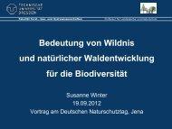 Bedeutung von Wildnis und natürlicher Waldentwicklung für die ...