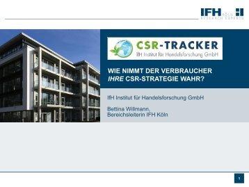 CSR-Tracker Studieninformation