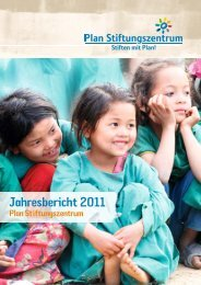 Jahresbericht 2011 - Plan Stiftungszentrum