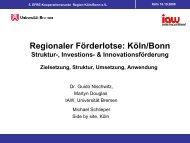 Regionaler Förderlotse: Köln/Bonn - am Institut Arbeit und Wirtschaft ...