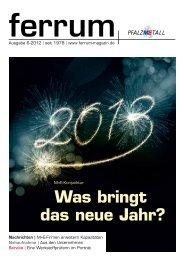 ferrum Ausgabe 6-2012 - PfalzMetall