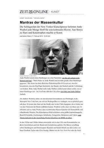 Mantras der Massenkultur - Sabine Weier