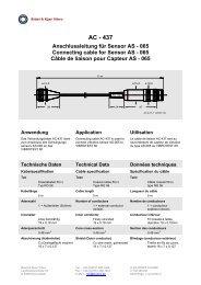 AC - 437 Anschlussleitung für Sensor AS - Brüel & Kjaer Vibro