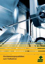 Hochleistungsqualitäten zum Tiefbohren - Carl Bechem GmbH