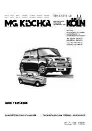 Schlauch Achse MGB-GT 1965-1980 Differential SIMMERRINGE /& Dichtung Satz MGB