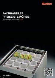 Fachhändler Preisliste Körbe - Rieber GmbH & Co. KG