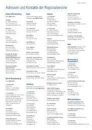 Liste aller Ansprechpartner in den Regionalvereinen als PDF - DGhK