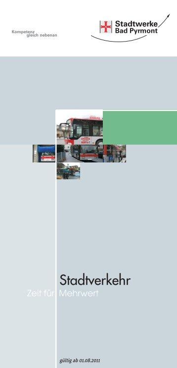 Stadtverkehr - Stadtwerke Bad Pyrmont