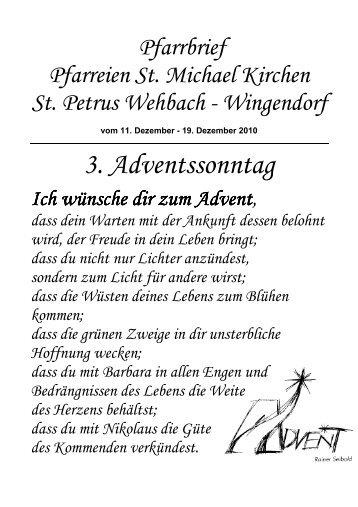 Pfarrbrief 11.12.10 - Herzlich willkommen in St. Michael Kirchen und ...