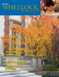 Fall 2011 - Wheelock College