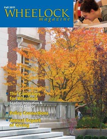 Fall 2011 - Wheelock College