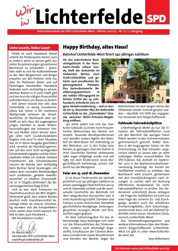 Happy Birthday, altes Haus! - SPD Lichterfelde-West