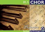 "Konzert Programm - MGV ""Kolping"" Tunsel"