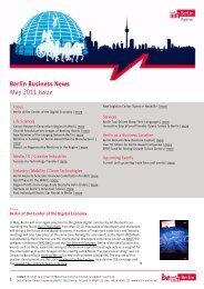 Berlin Business News May 2011 Issue - Berlin Partner GmbH