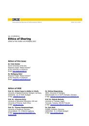 IRIE issue 15 - International Review of Information Ethics