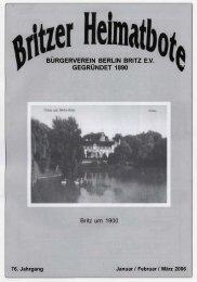 burgerverein berlin britz ev gegründet 1890 v - Britzer Bürgerverein