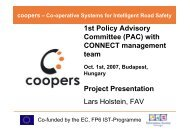 1st Policy Advisory Committee (PAC) With CONNECT ... - Coopers