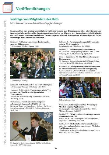 Vorträge 2008 - IAPG