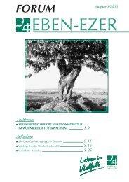 Titelthema: S.9 Außerdem: S.11 S.14 S.25 - Stiftung Eben-Ezer