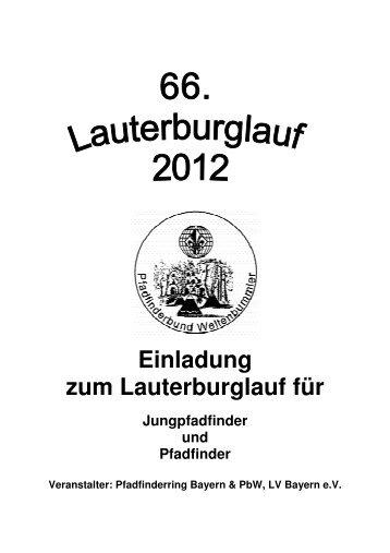 Ausschreibung, Anmeldung LaBuLa 2012 - Lauterburglauf