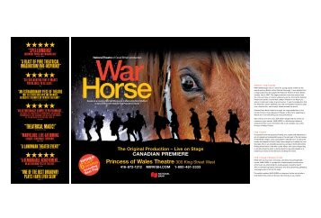the sketches & stage design of war horse - Mirvish