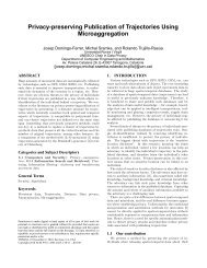 Privacy-preserving Publication of Trajectories Using Microaggregation