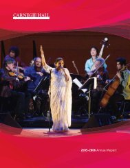 2005–2006 Annual Report - Carnegie Hall