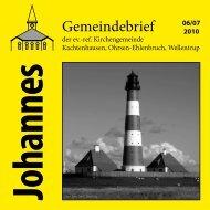 Ausgabe 06-07/2010 - ref. Johannesgemeinde Kachtenhausen