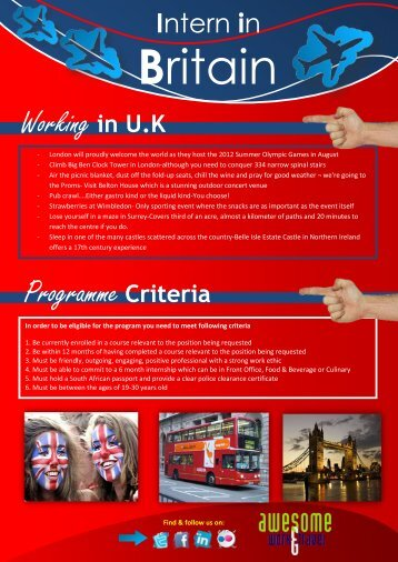 Intern in Britain - Awesome Travel