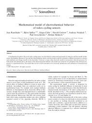 Mathematical model of electrochemical behavior of redox cycling ...