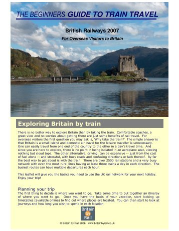THE BEGINNERS GUIDE TO TRAIN TRAVEL - Britain by Rail