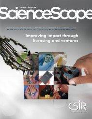 Improving impact through licensing and ventures - CSIR