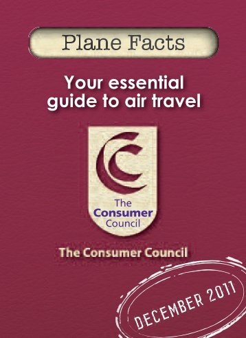 Plane Facts- Your Essential Guide to Air Travel - Consumerline