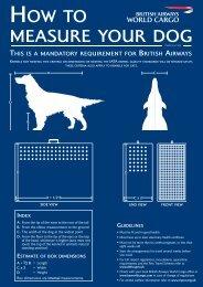 Ow to measure your dog - British Airways World Cargo
