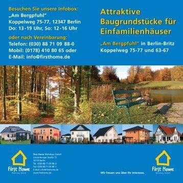 Flyer zu diesem Projekt - First Home