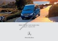 Preisliste Mercedes-Benz Viano Marco Polo, 9/2005